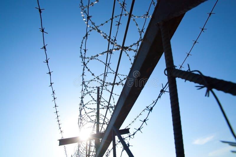 Barbelé en métal images libres de droits