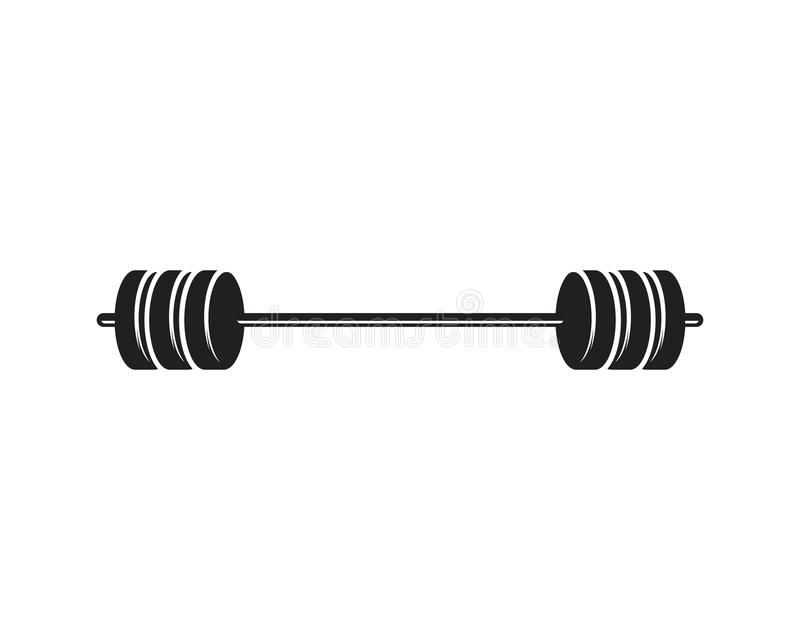 Barbel, Dumbbell Gym Icon Logo template. Gym Badge, Fitness Logo Design barbell vector weight isolated sport lifting equipment athletic health strength royalty free illustration