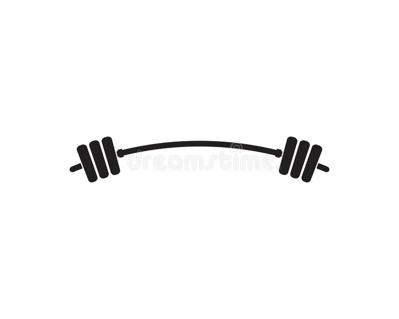 Barbel, Dumbbell Gym Icon Logo template. Gym Badge, Fitness Logo Design barbell vector weight isolated sport lifting equipment athletic health strength vector illustration