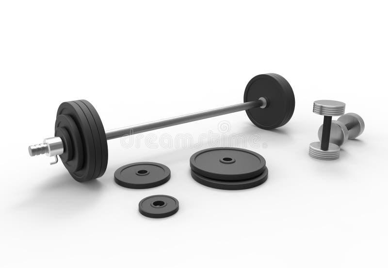 Barbell en métal photo stock