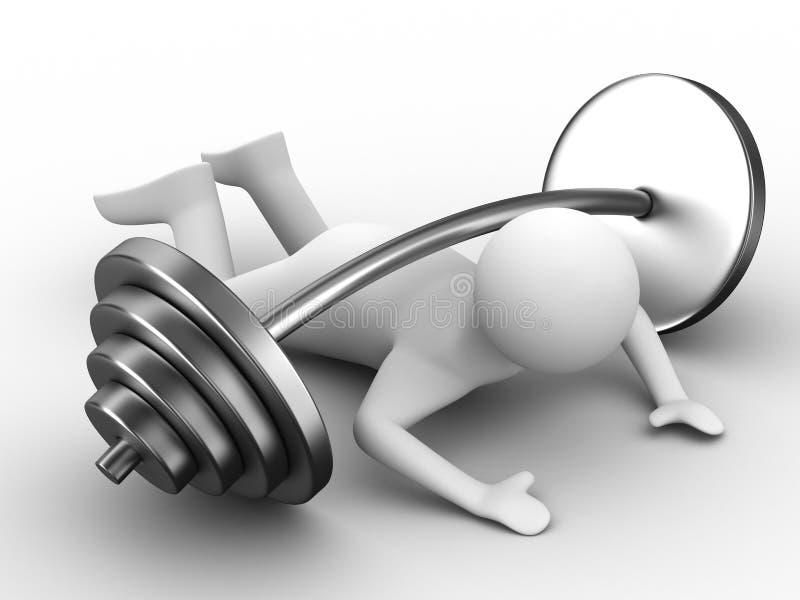 Barbell enfoncé par haltérophile illustration libre de droits
