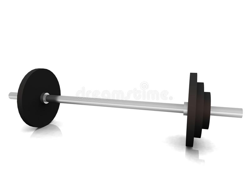 Barbell on floor stock photography