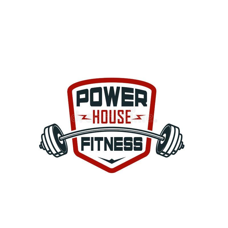 Barbell gym sprawności fizycznej bodybuilding klubu wektoru ikona ilustracja wektor