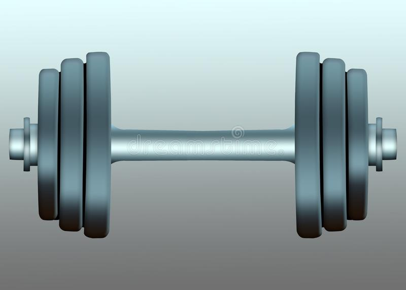 Barbell isolé de sports sur un fond dumbbells illustration de vecteur