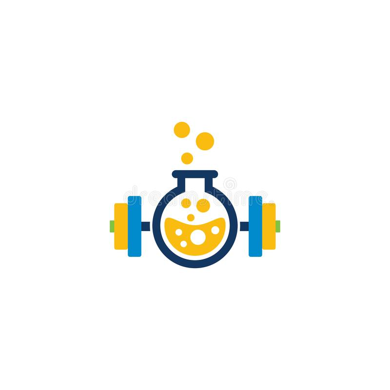 Barbell Lab Logo Icon Design. This design can be used as a logo, icon or as a complement to a design vector illustration