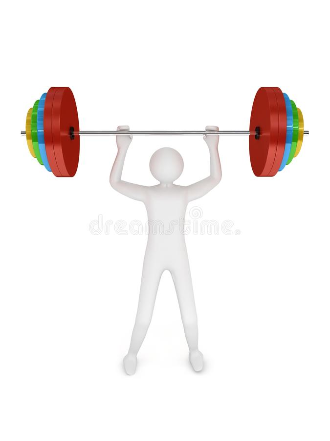 Free Barbell On White Background Stock Photography - 13168592
