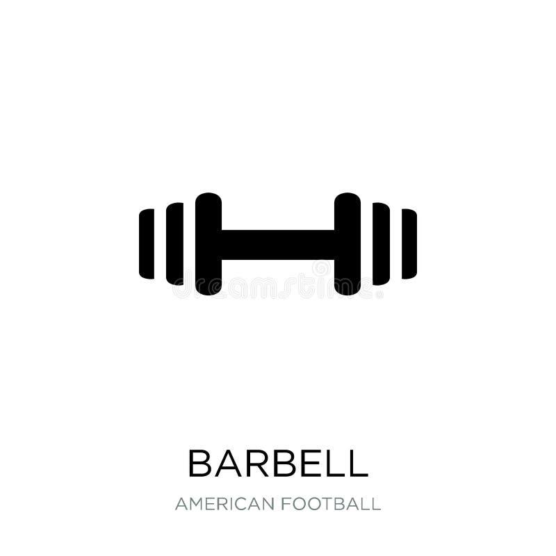 barbell pictogram in in ontwerpstijl barbell pictogram op witte achtergrond wordt geïsoleerd die barbell vectorpictogram eenvoudi vector illustratie