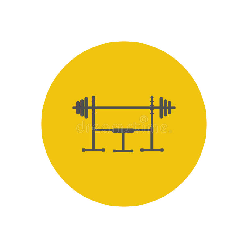 Barbell on a stand. Icon. Vector illustration stock illustration