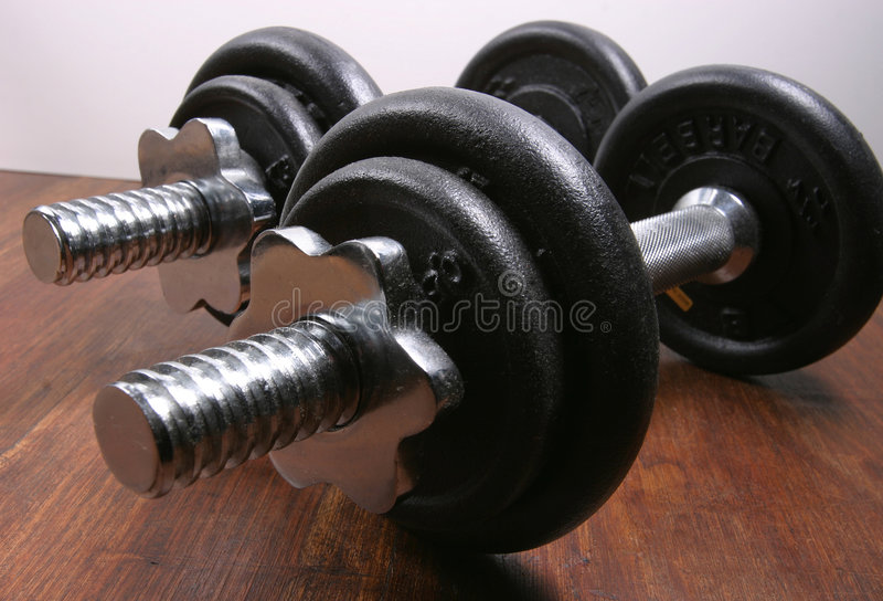 Barbell Weights Exercise Gear royalty free stock image