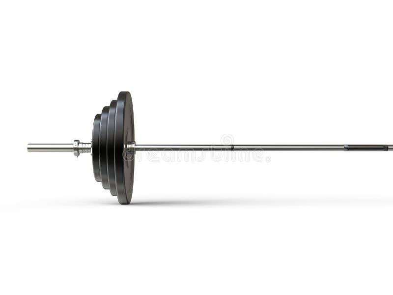 Barbellgewicht met diverse gewichtsplaten op het - gesneden schot stock afbeeldingen