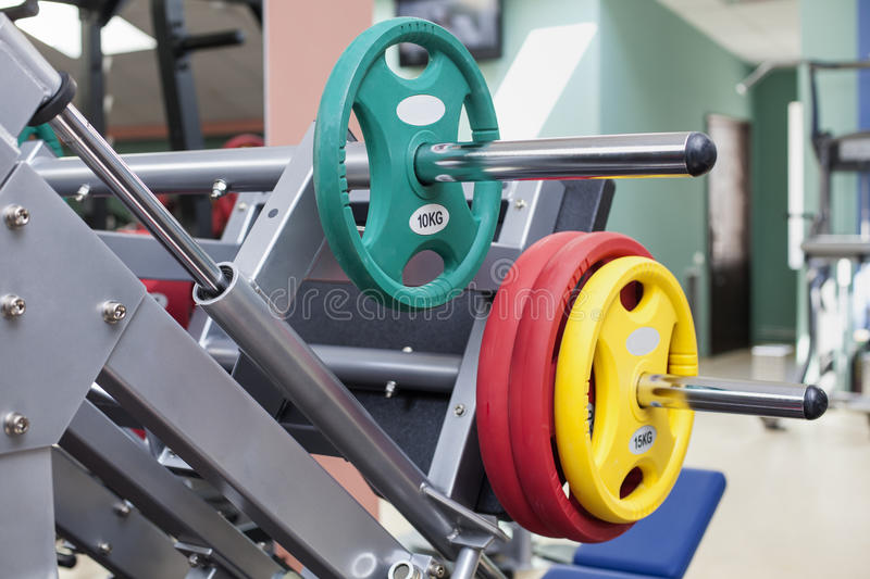 Download Barbells - gym equipment stock image. Image of muscle - 30550177
