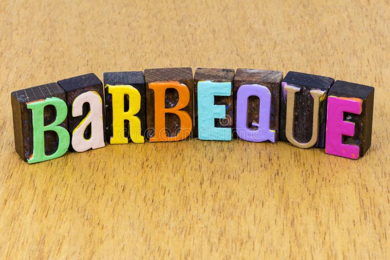 Barbeque barbecue bbq picnic party time friends family food grill royalty free stock photos
