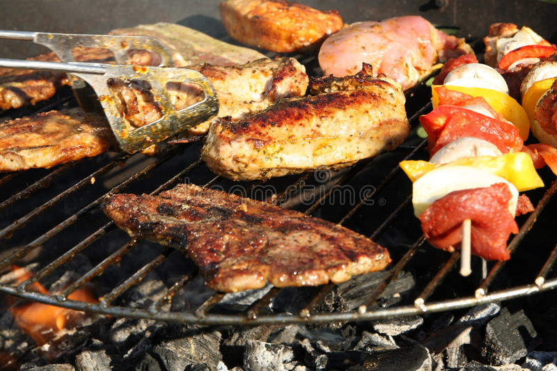 Barbeque grill stock photos