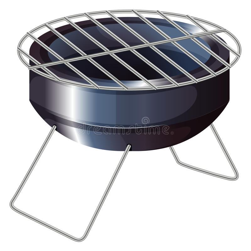 A barbeque grilling stove stock illustration