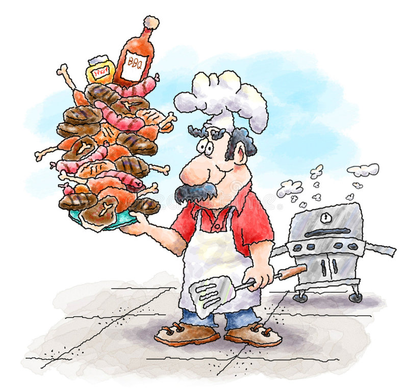 Barbeque Guy vector illustration