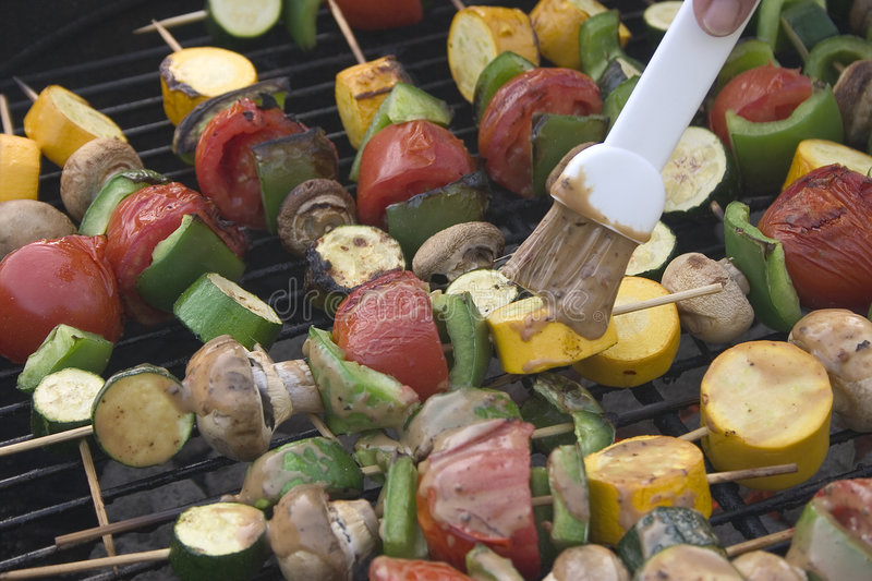 Barbeque Vegetables royalty free stock photos