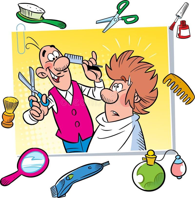 Barbería de la historieta libre illustration