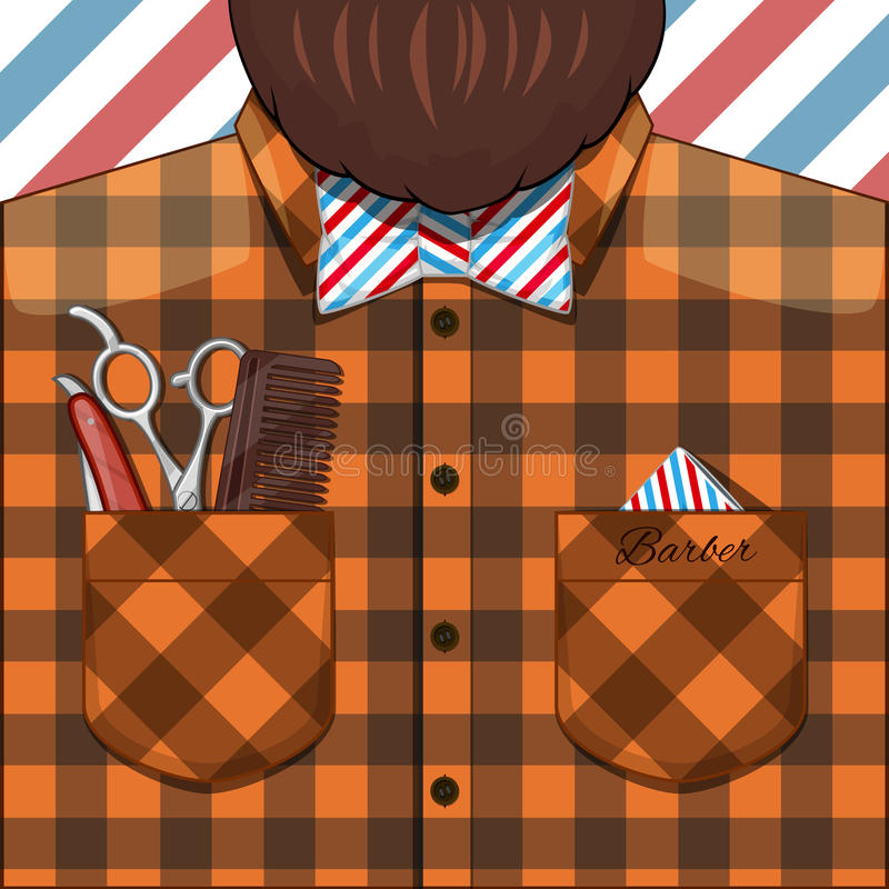 Barber Bearded Man ilustração stock