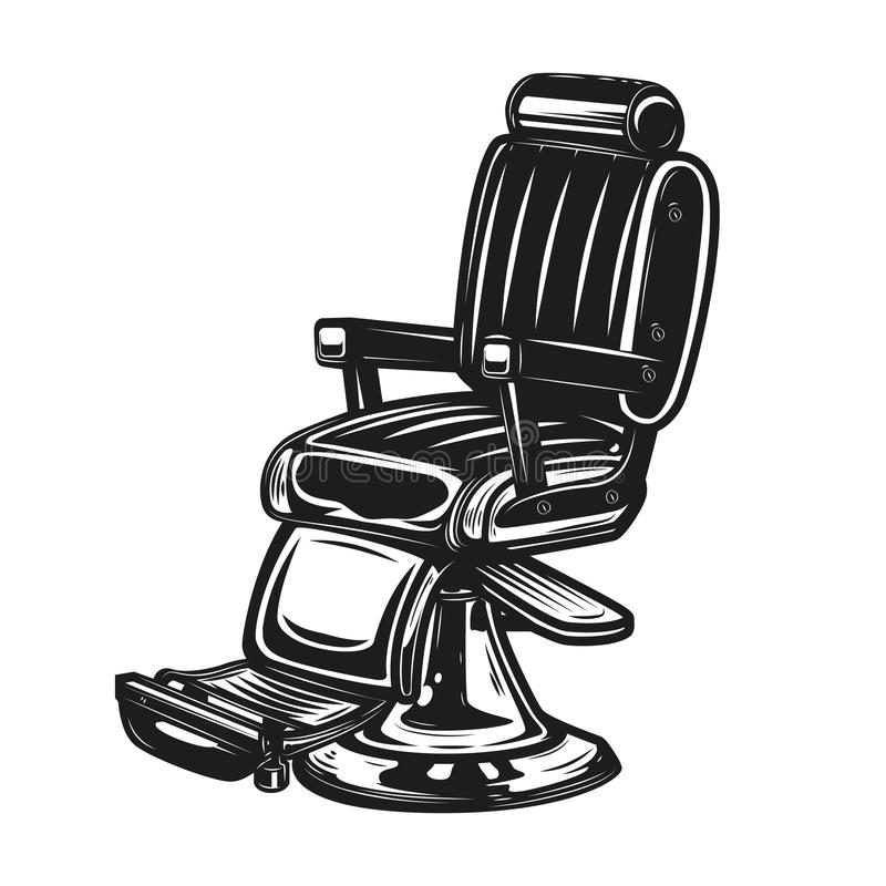 Barber Chair a isolé sur le fond blanc illustration stock