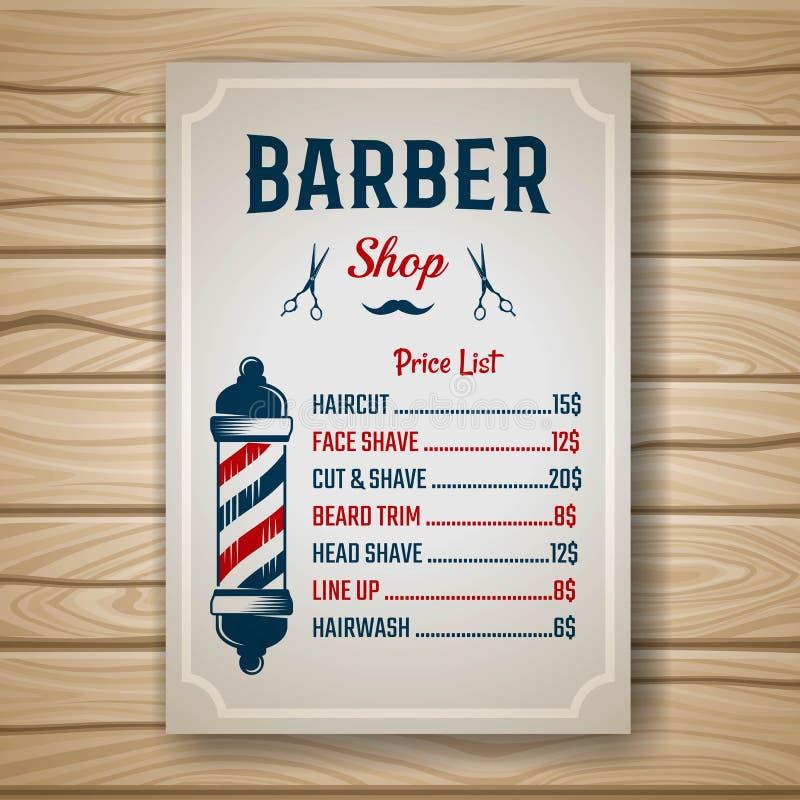 Barber Colored Price vector illustratie