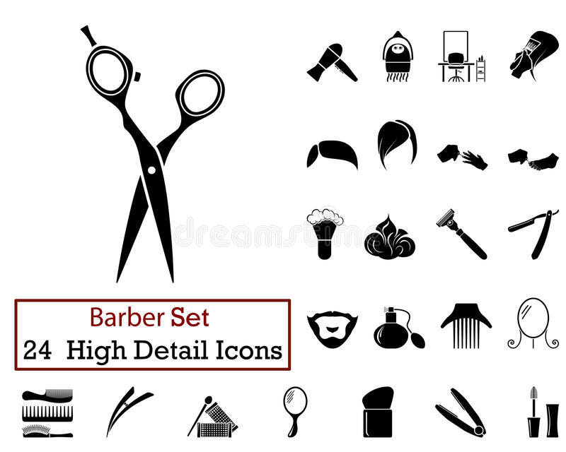 24 Barber Icons libre illustration
