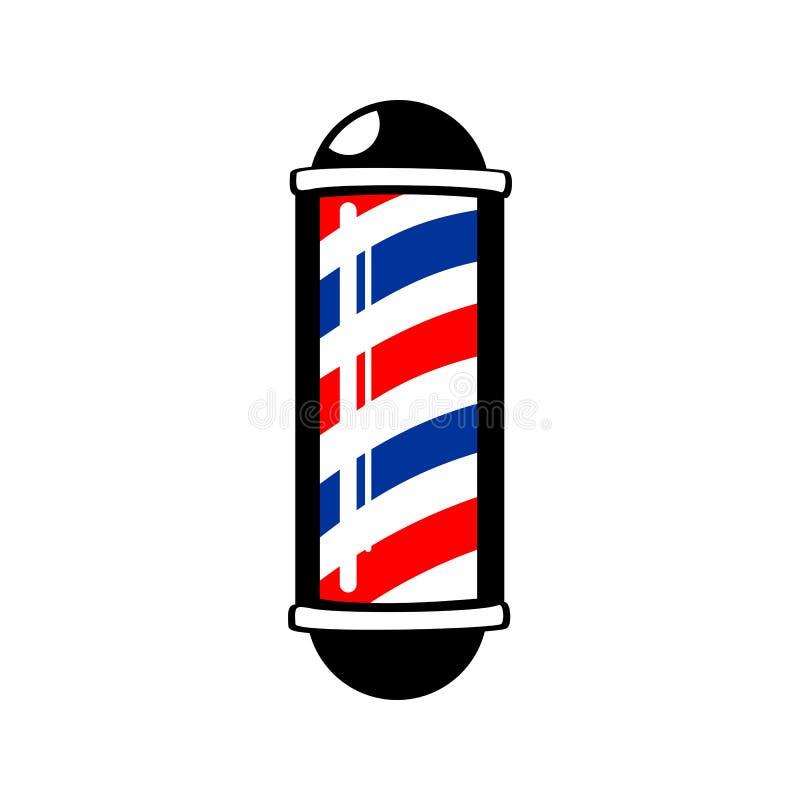 Barber& x27; listras de s Polo ilustração stock