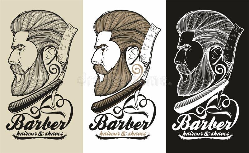 Barber logo stock images