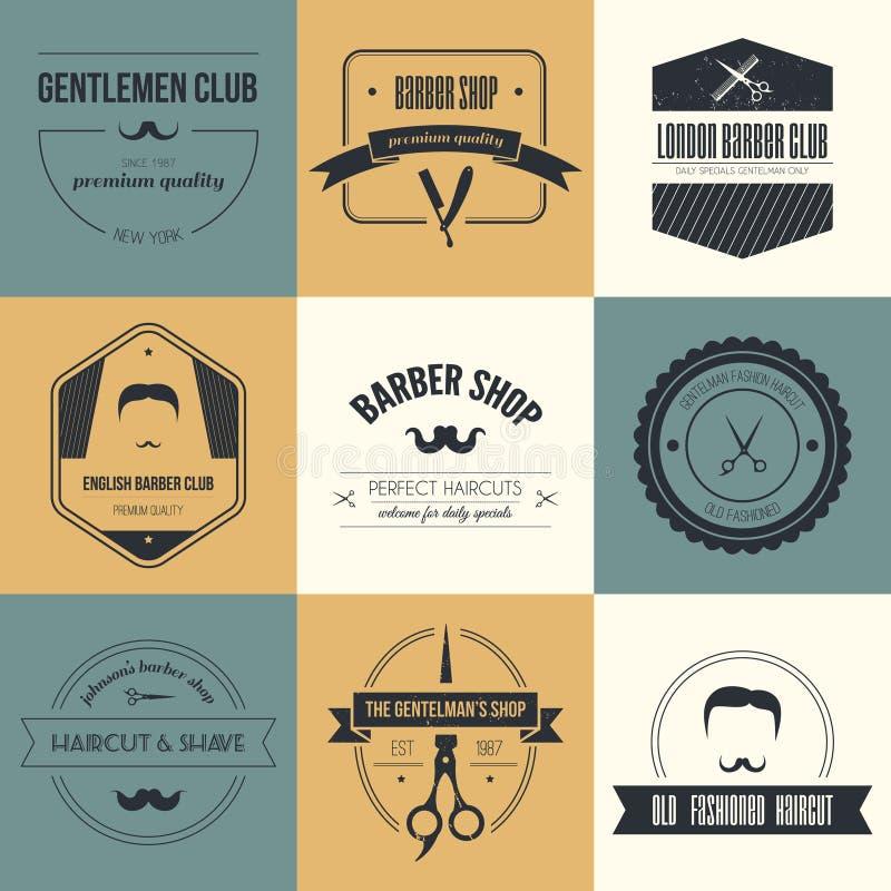 Barber Logos illustrazione di stock