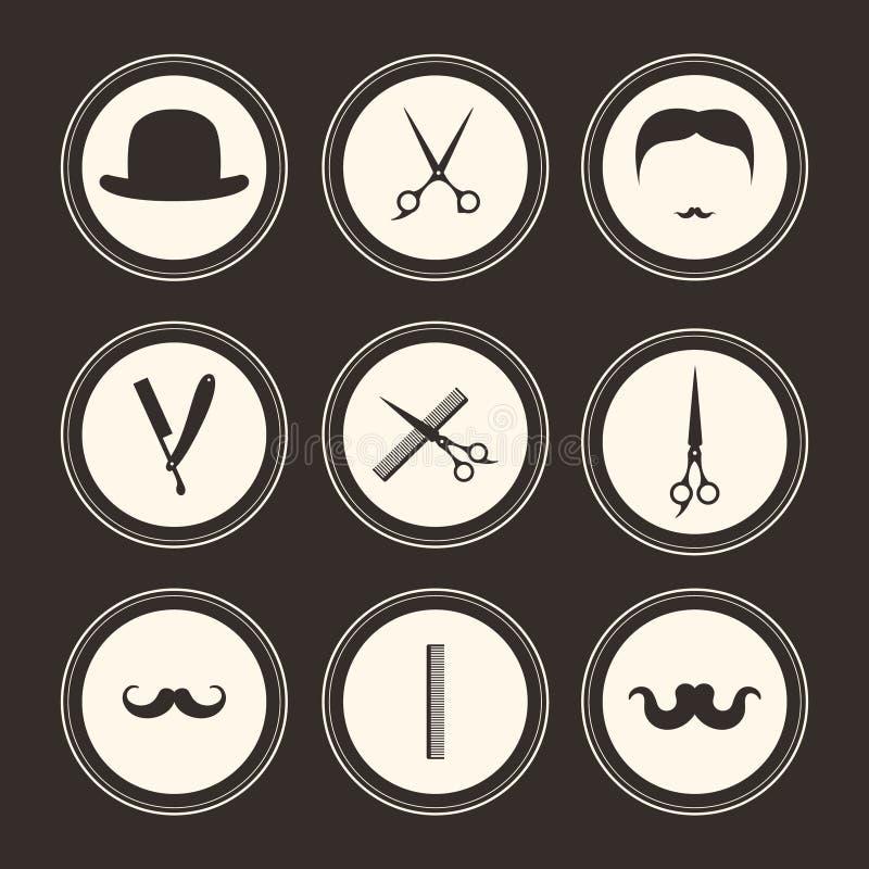 Barber Logos vektor abbildung