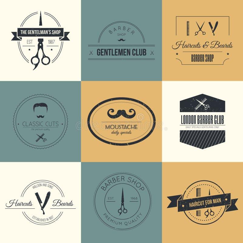 Barber Logos royalty illustrazione gratis