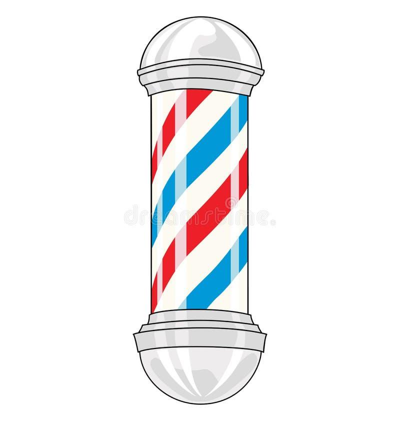 Barber pole royalty free illustration