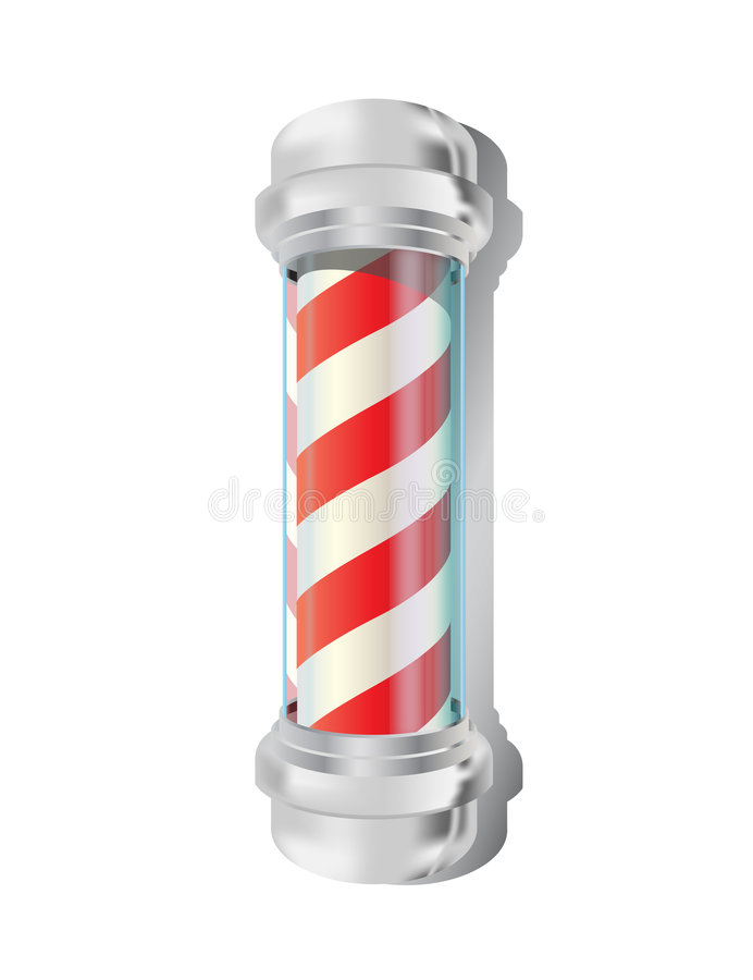Download Barber pole stock vector. Illustration of reflection, silver - 7086819