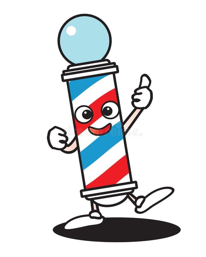 Barber pole cartoon royalty free illustration