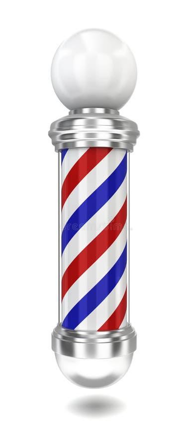Barber pole vector illustration