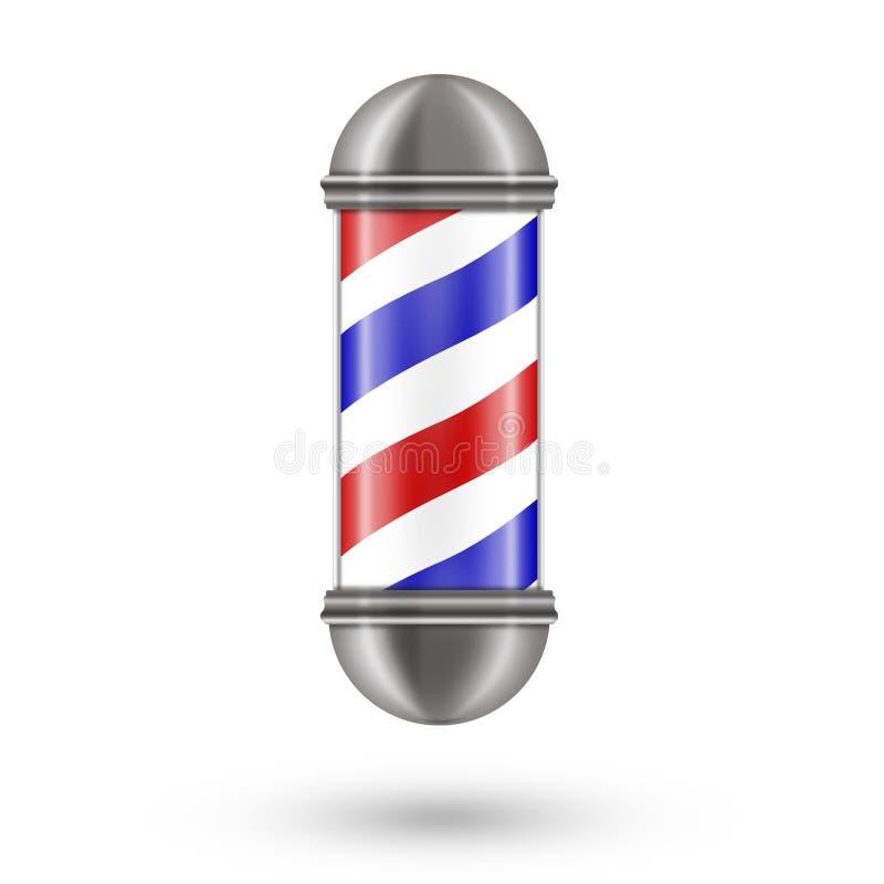 Barber Pole, d'isolement sur un fond blanc Beauté et mode illustration de vecteur