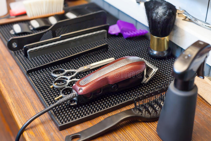Barber& x27; s akcesoria obraz stock