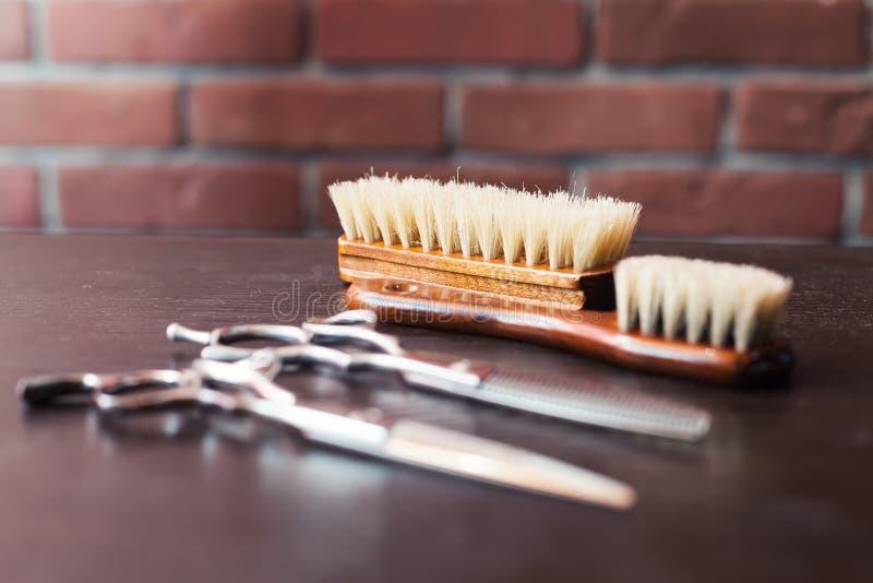 Barber& x27; s narzędzia obraz stock