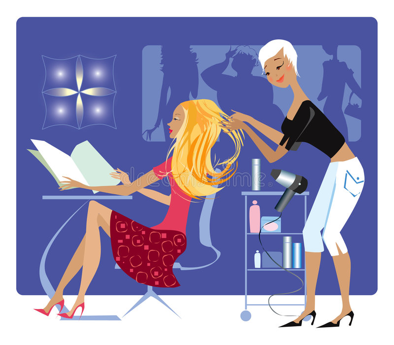 Download Barber's shop stock vector. Image of blond, lady, dealership - 2145582