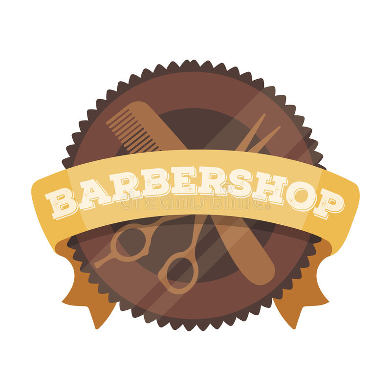 Barber`s sign.Barbershop single icon in cartoon style rater,bitmap symbol stock illustration web. Barber`s sign.Barbershop single icon in cartoon style rater vector illustration