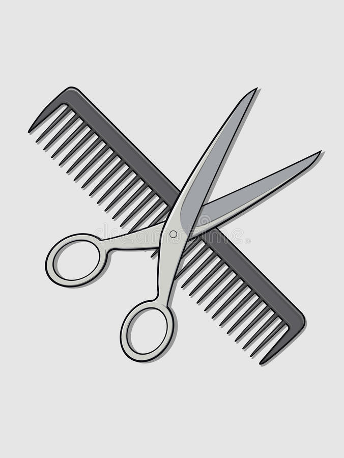 Barber Scissor And Comb Stock Images Image 27906894