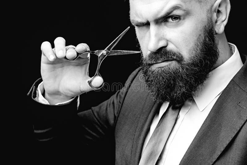 Barber scissors, barber shop. Vintage barbershop, shaving. Portrait of unshaven mans. Barber scissors, barber shop. Vintage barbershop, shaving. Portrait of royalty free stock image