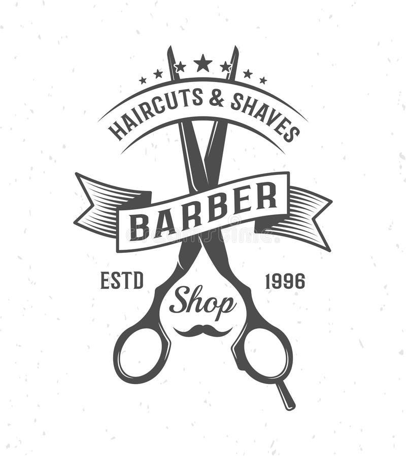 Barber Scissors Composition stock de ilustración