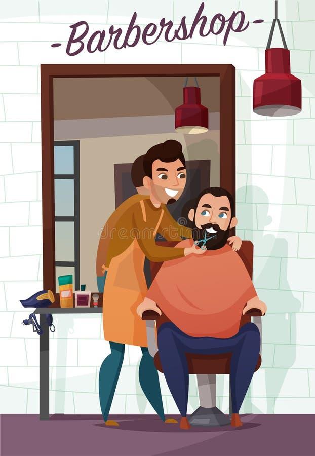 Barber Services Cartoon Illustration royalty-vrije illustratie