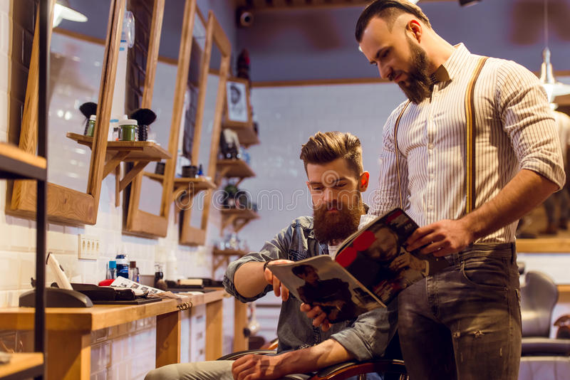 At the barber shop royalty free stock photography