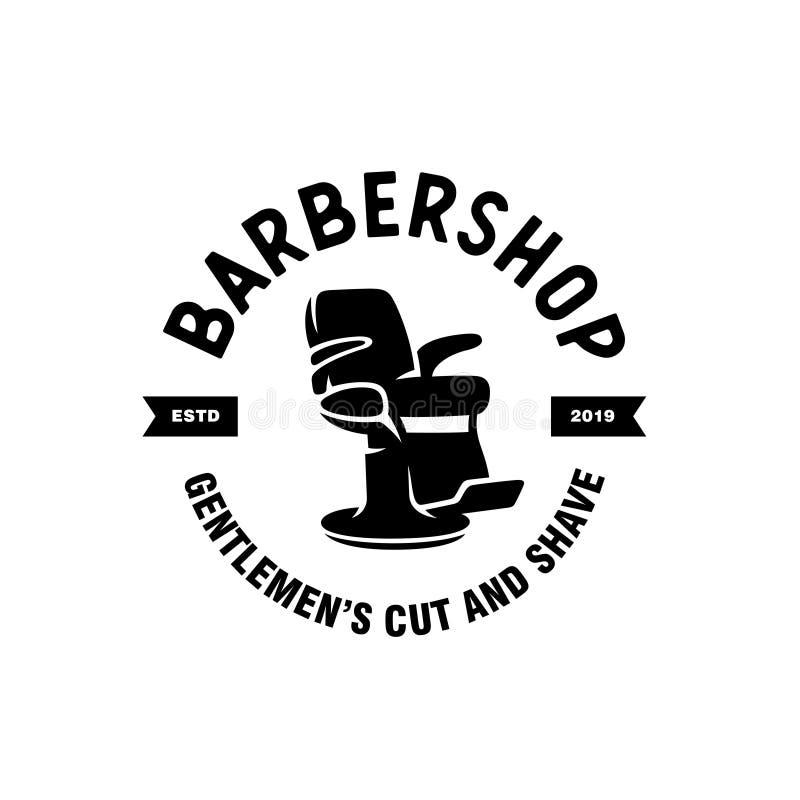 Barber shop emblem badge logotype sign. Vector vintage illustration. vector illustration