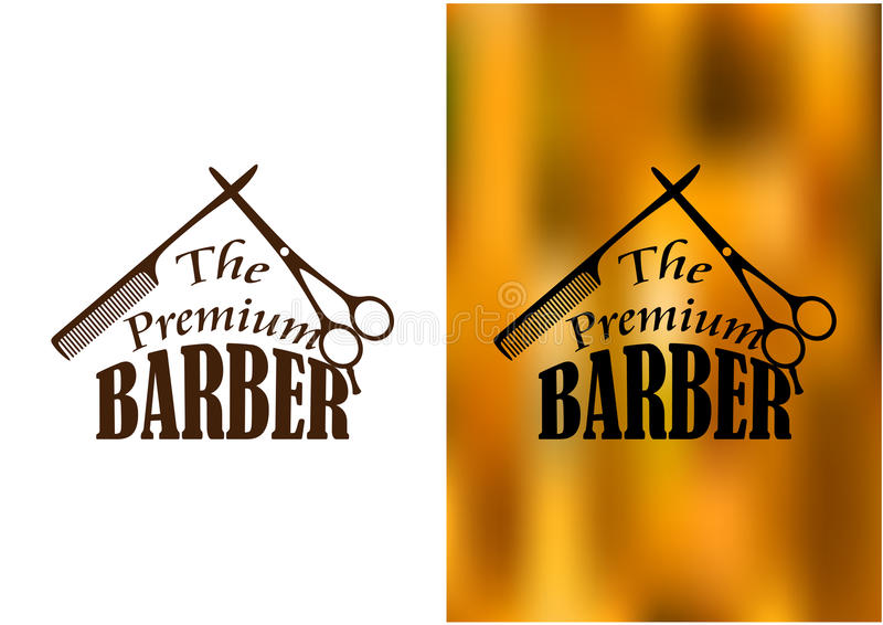 Barber shop emblem stock vector illustration of for Simbolo barbiere