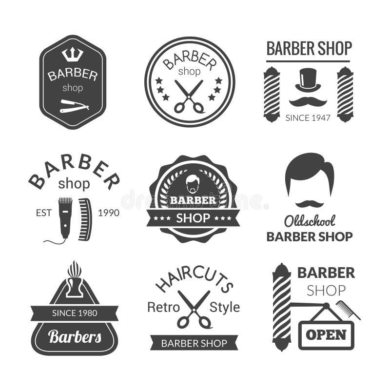 Barber Shop Emblems lizenzfreie abbildung