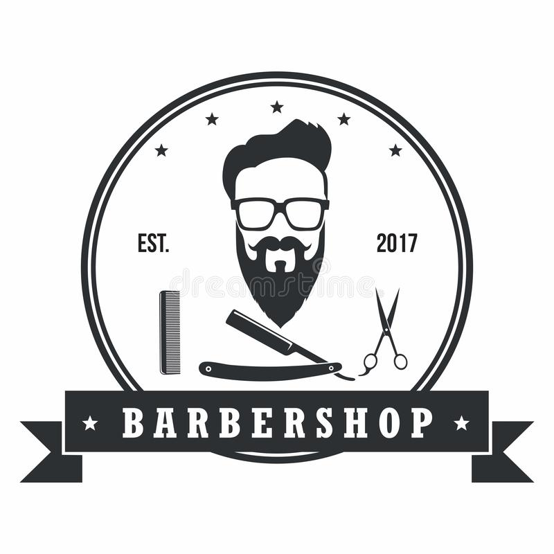 Barber Shop Hipster Badges Vintage Design Elements. Logo, Labels, Banner, Emblems. Vector Illustration vector illustration
