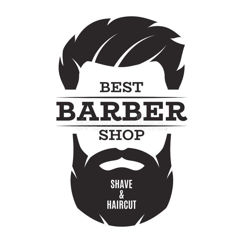 Barber Shop Isolated Vintage Label Badge Emblem . Stock