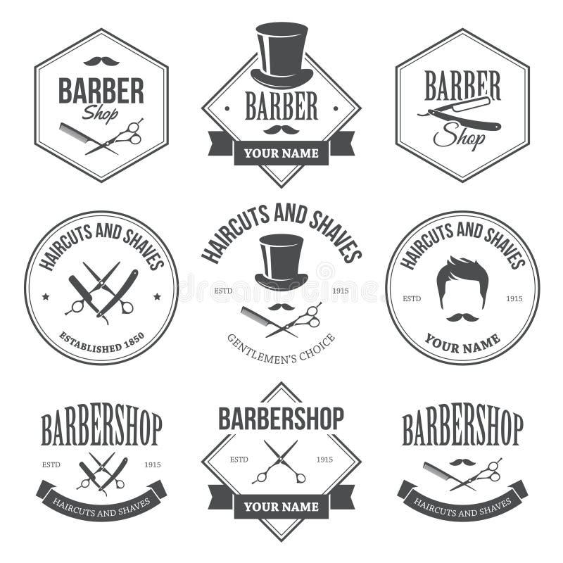 Barber Shop Labels illustrazione di stock